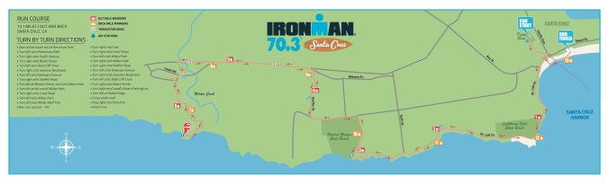 Ironman 70.3 Santa Cruz Run Course