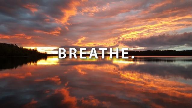 sunset - breathe