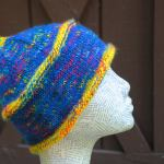 Mary Good blue and yellow hat