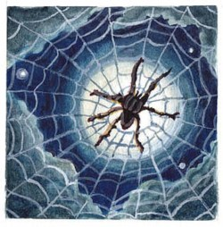 Spider Moon. Original watercolor and gouache painting by Sheryl Humphrey.