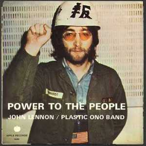 Cover of John Lennon and the Plastic Ono Band's Power to the People.