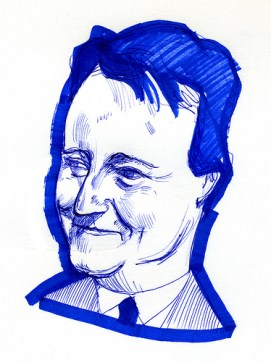 David Cameron illustration.