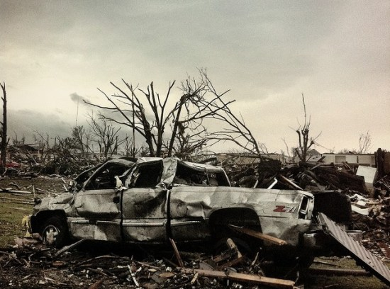 truck damaged in Joplin tornado