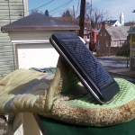 solar panel on kitchen mitt