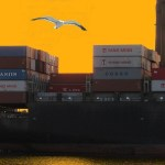 Slow travel across the Atlantic by container ship