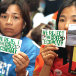 protesters reject greed economy