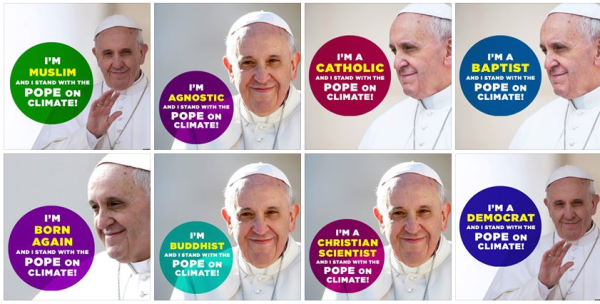 support pope on climate