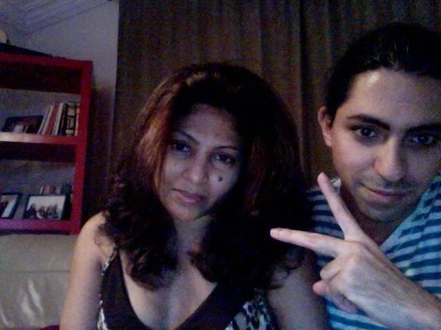 Ensaf Haidar og Raif Badawi.