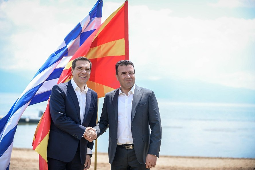 1200px-Zoran Zaev and Alexis Tsipras in Oteševo, on North Macedonia's side of Lake Prespa, after signing the Prespa agreement