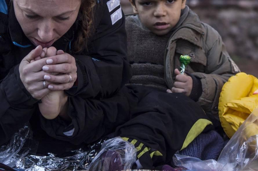 Syrisk gutt på Lesvos