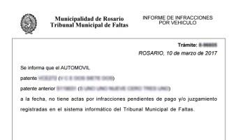 Consulta de multas de transito por vehiculo de la Municipalidad de Rosario - 3