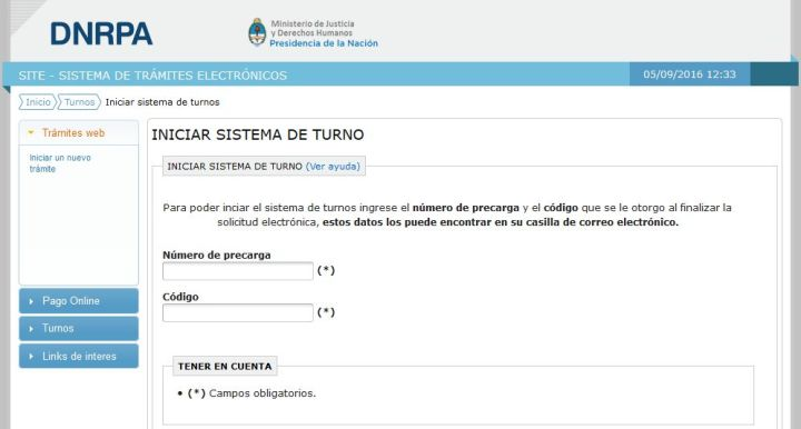 Turnos Registros del Automotor