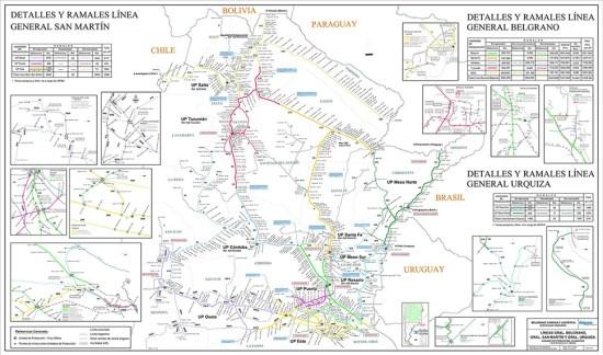 red de trenes y ferrocarriles de carga en argentina