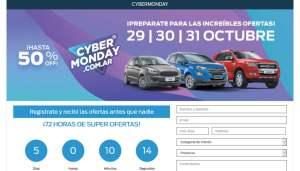 cybermonday descuento compra auto 0km plan de ahorro chevrolet y ford