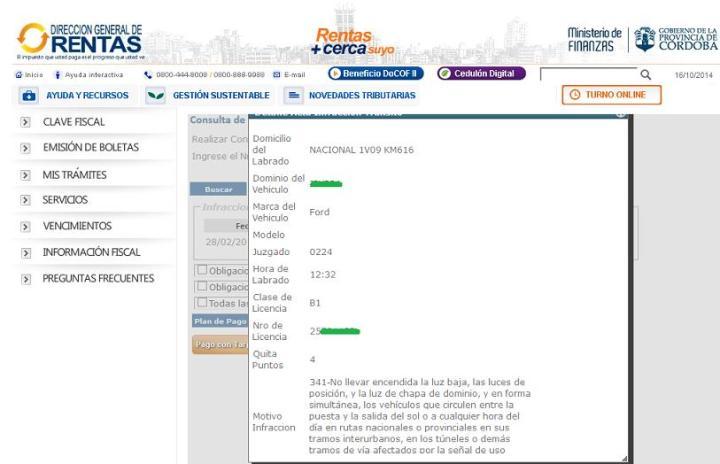 Como consultar las multas de la Policia Caminera - Rentas - 6_2
