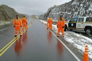 nieve en altas cumbres cordoba control cerrado el camino