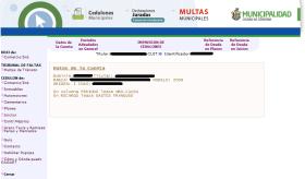Sitio web de la Municipalidad de Córdoba. Consulta de multas de tránsito de Córdoba capital