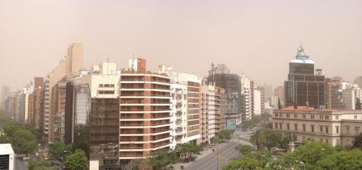 Tormenta de tierra en Córdoba (Foto: @tinchomb)