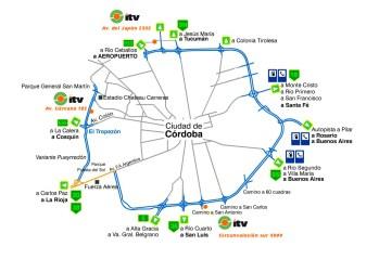 Plano de los ITV en Córdoba (Foto: dayanabarrionuevo.com)