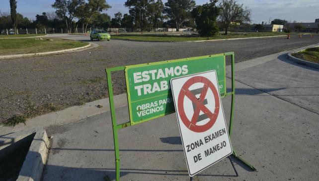 Obras pista Educacion Vial Municipal - La Voz