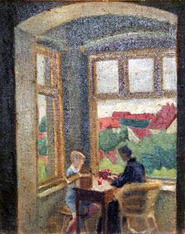 'Wawrzyniec with Grandma Zofia' by Marek Zulawski, 1923