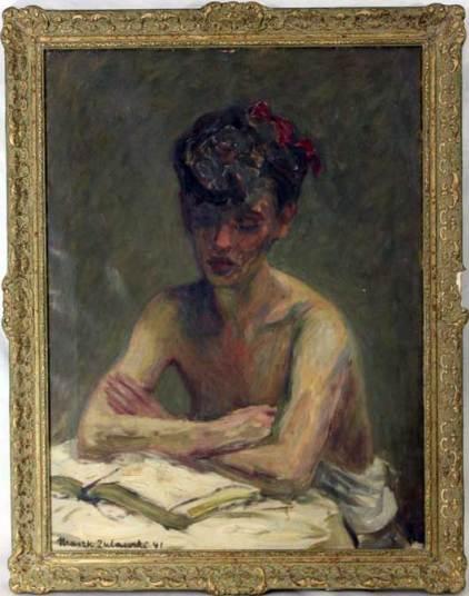Portrait of Halina Korn by Marek Zulawski, 1941