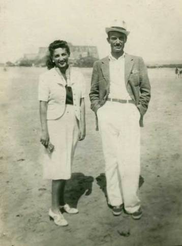 Halina Korn and Marek Zulawski in St Malo in France, just days before Germany began bombing Poland.