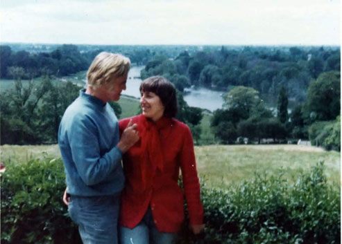 Marek and Maria on Richmond Hill in London, June 1977