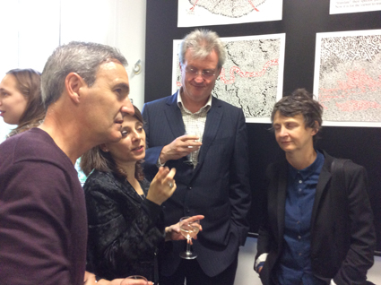 With Sharon Morris, Tim Mathews and Jorge Díaz-Cintas at the Vernissage, Ucl, 2015