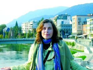 The author in her hometown, Villach, in Austria.