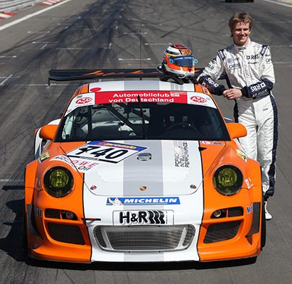 Hülkenberg tests the Porsche 911 GT3 R Hybrid around the Nordschleife
