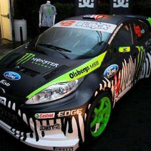 Ken Block's monstrous Gymkhana Three Ford Fiesta revealed