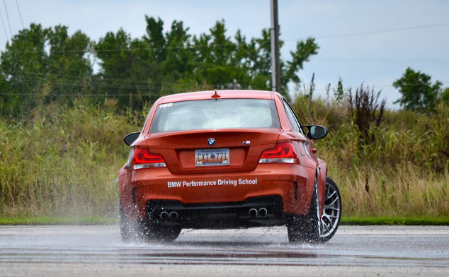 Totally Gratuitous Shots of BMW's 1 M Coupe on a Skidpad