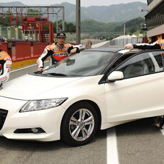 Honda CR-Z gets the thumbs-up from HRC MotoGP stars