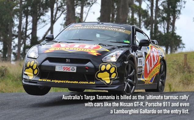 Nissan GT-R in the Targa Tasmania