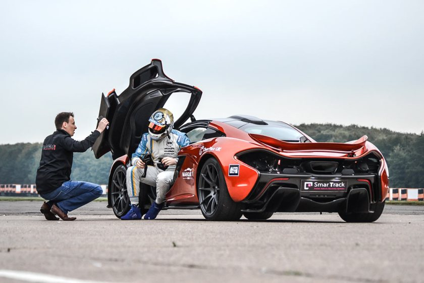McLaren P1 with driver Steve Train