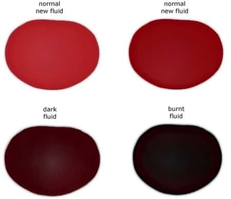 Transmission Fluid Color Comparison - Transmission Cooler Guide