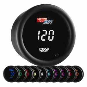 Glow Shift 10 color digital transmission temperature gauge - transmission cooler guide