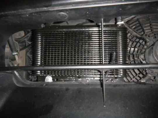 transmission cooler installation on Nissan Titan - Transmission Cooler Guide