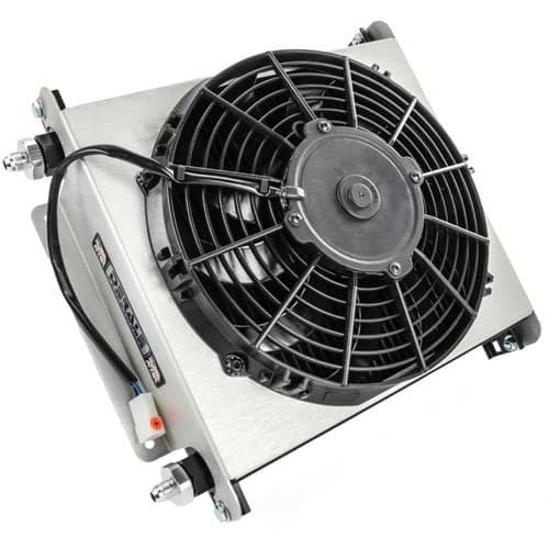 Derale 13870 Hyper Cool Extreme Transmission Cooler With Fan - Transmission Cooler Guide