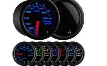 GlowShift 7 Color Trans Temp Gauge - Transmission Cooler Guide