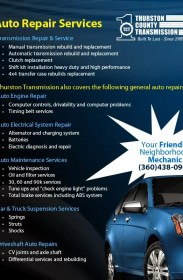 Auto Repair Services in Olympia WA & Lacey Washington