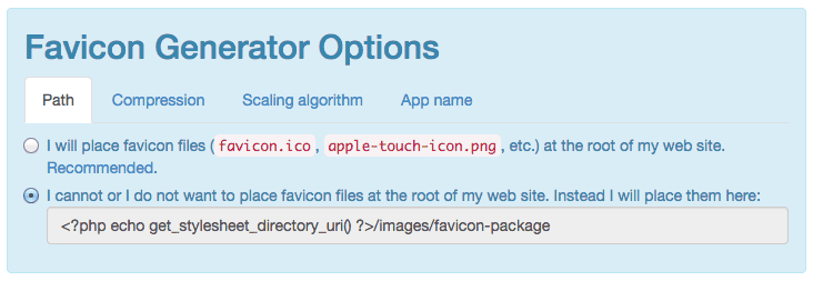 Replace WordPress default favicon – and add a full package