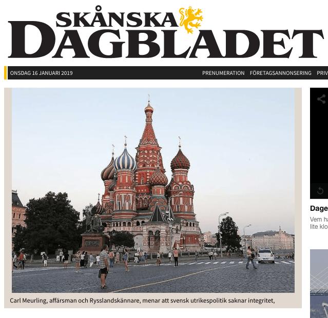 Sveriges Rysslandspolitik styrs utifrån