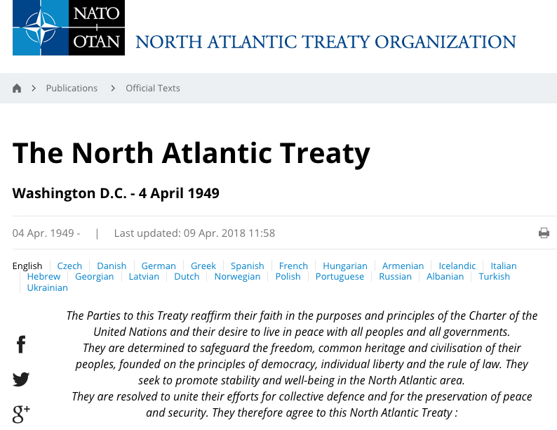 NATO at 70: An unlawful organisation with serious psychological problems