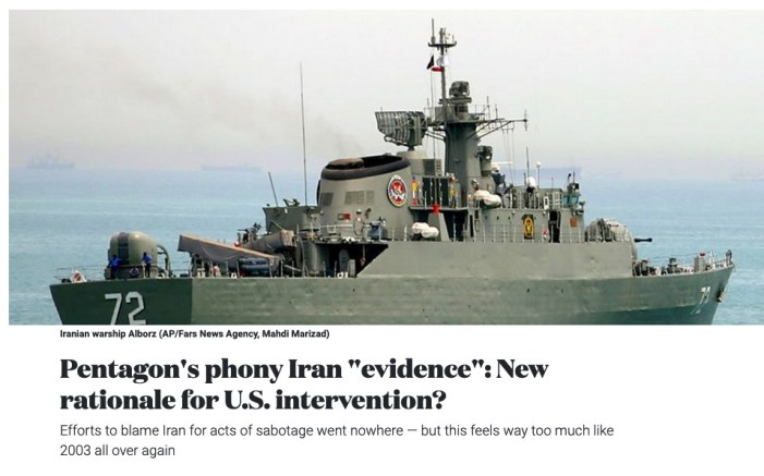 "Pentagon's phony Iran ""evidence"": New rationale for U.S. intervention?"