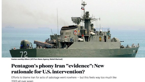 """Pentagon's phony Iran """"evidence"""": New rationale for U.S. intervention?"""