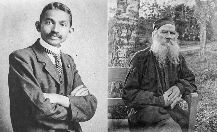 Tolstoy and Gandhi: light as darkness approached