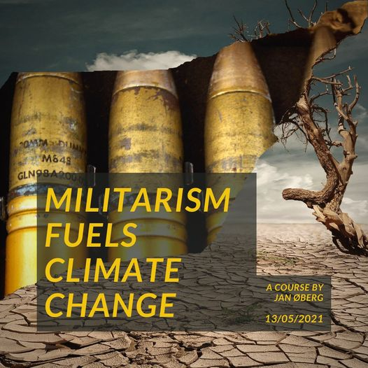 "⏰  Seminar on ""How Militarism Fuels Climate Change"""
