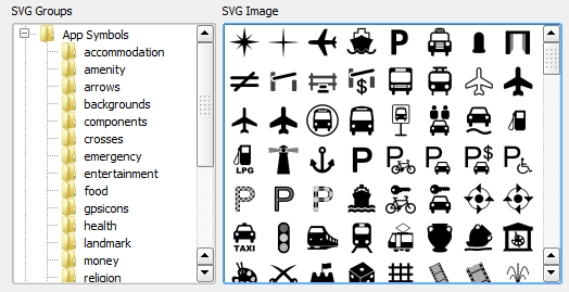 2 svg markers